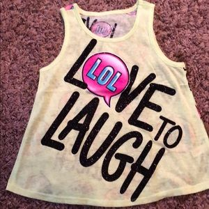 NWOT Youth Girls Size 12 Tank Top from Justice.